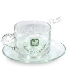 ชุดแก้วกาแฟ พร้อมจานรอง NO.44C19