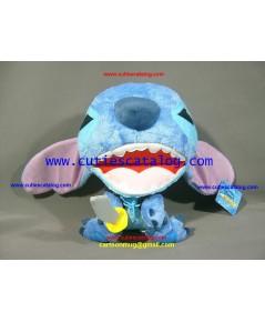 ตุ๊กตาสติช (Stitch Doll) หัวโตขนยาว แบบแฟนซี นั่งยิ้ม แต่งชุดโจรสลัดถือดาบ (ST 1/1)
