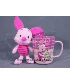 แก้วพิกเลท พร้อมตุ๊กตาพิกเลท (Piglet mug with Piglet doll)