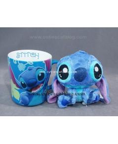 แก้วสติช พร้อมตุ๊กตาสติช แบบ 1 (Stitch mug with Stitch doll)