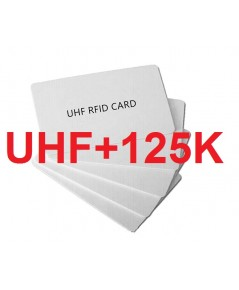 Dual Frequency UHF cards with one cards ID(UHF+125K)