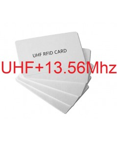 Dual Frequency UHF cards with one cards ID(UHF+13.56Mhz)