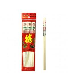 Color kit ตะเกียบพลาสติกงาลายจีนสั้น (24 ซม) แพค 10 คู่ 6 แพ็ค