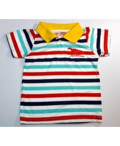 เสื้อโปโลเด็กปักลาย 4-5ปี  /6ตัว ราคา 420 บาท