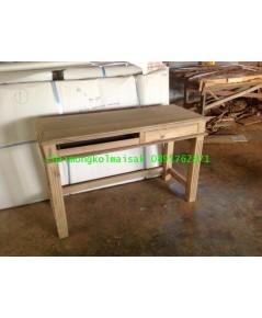 โต๊ะทำงานไม้สักขาตรง2