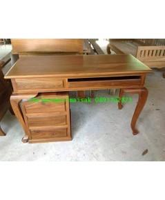 โต๊ะทำงานไม้สักขานก3