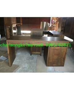โต๊ะทำงานไม้สักสไตล์โมเดิร์น2