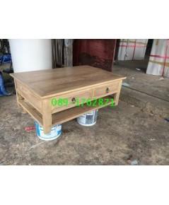 โต๊ะกลางไม้สักขาตรง2