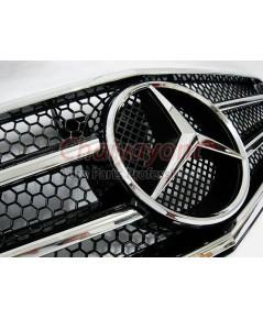 ประดับยนต์ชุดแต่งรถกระจังหน้าสปอร์ตสีดำรถเบนซ์ W204 รุ่น 4 ประตู Avantgarde C200 C220 C320 C180 C230