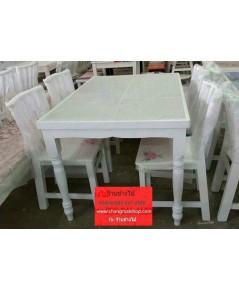 ชุดโต๊ะร้านอาหาร สีขาวสไตล์วินเทจ
