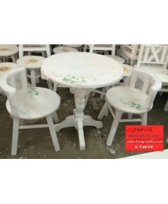 โต๊ะร้านกาแฟ เพ้นท์ลาย สไตล์วินเทจ โต๊ะร้านอาหาร โต๊ะทานข้าวราคาถูก เฟอร์นิเจอร์ราคาโรงงาน