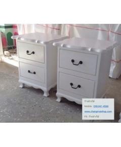 ตู้หัวเตียง สีขาวสไตล์วินเทจ ตู้ลิ้นซักสีขาว ตู้หัวเตียงราคาถูก ตู้อื่นๆ ราคาโรงงาน