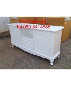 ตู้วางทีวีสีขาวสไตล์วินเทจ ตู้วางทีวีสีขาวราคาถูก ตู้วางเอนกประสงค์อื่น สินค้าราคาโรงงาน