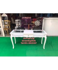 โต๊ะเพ้นเล็บสีขาวสไตล์วินเทจ สินค้าจัดรายการราคา 4900 จากราคา6900 ราคาถูกจากโรงงาน
