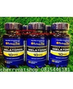 วิตามินช่วยให้หลับง่ายขึ้น คลายเครียดPuritan\'s Pride Vitamin Melatonin10mg60เม็ดNighttime Sleep Aid