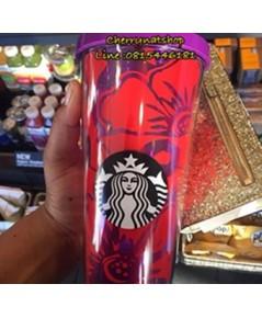 มาแล้ว+!Cold Cup 24oz New Spring Collection USA;Floral Cold Cup-Purple and Redสาวกพี่บัึคต้องมีไว้ค่