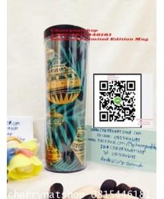 สวยน่าใช้น่าสะสม!แก้วสตาร์บัคอเมริกาGreen Ornament Tumbler, 16 fl oz พลาสติกหนา2ชั้น เก็บเย็นได้นาน!