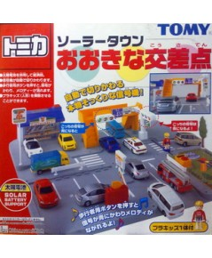 Tomica Town Scene  Town playset with solar battery support