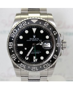 Rolex GMT-MASTER II 116710LN หน้าปัดดำเข็ม GMT สีเขียว
