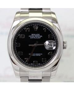 Rolex DateJust King Size 116200 หน้าปัดดำเลขอารบิกตัวเรือน Steel
