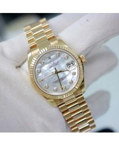 นาฬิกามือสอง rolex datejust หน้าปัดมุกเพชรใหญ่ เรือนทอง