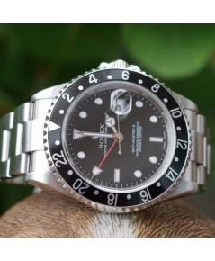 Rolex GMT-Master II 16710 หน้าปัดดำเข็มแดงคอแข็งข้างตัน