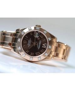 Rolex  81315หน้าปัดสีช็อคโกแลตประดับด้วยเพชร