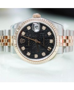 Rolex DateJust 179171 Lady Sizeหน้าคอมดำเพชร