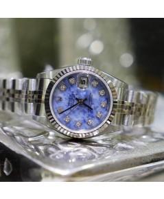 นาฬิกามือสอง Rolex79174 DateJust 26มิล หน้าปัดหินโซดาไลท์ฝังเพชร