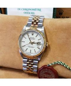 นาฬิกามือสอง rolex datejust 16233 36มิล หน้าปัดลายคอม