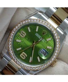 นาฬิกามือสอง rolex datejust 36มิล 116383 หน้าปัดลายคลื่นrolex