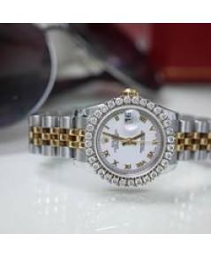 Rolex DateJust179173 lady 26mm หน้าปัดขาวโรมัน ตัวเรือนสองกษัตริย์