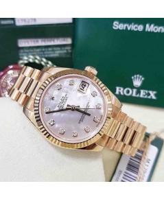 Rolex 178278 หน้ามุกขาวเพชร Pink Gold