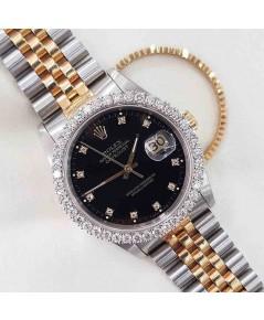 นาฬิกามือสอง rolex datejust 36มิล 16233 หน้าดำเพชร