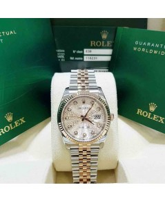 นาฬิกามือสอง rolex datejust 36มิล 116231 หน้าคอมพิ้งเพชร