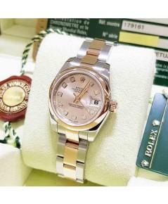 Rolex DateJust 179161 Lady Sizeหน้าพิ้งเพชร