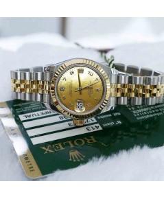 Rolex DateJust 179173 Lady Sizeหน้ามุกทองเพชร