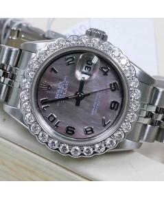 Rolex DateJust 79174 Lady Sizeหน้ามุกเซาซีเลขอาริก พร้อมขอบเพขร