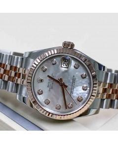 Rolex DateJust 178271 Boy Size 31mm หน้ามุกขาวเพชร