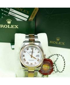 นาฬิกามือสอง rolex datejust 36มิล 116201 หน้าขาวเลขโรมัน