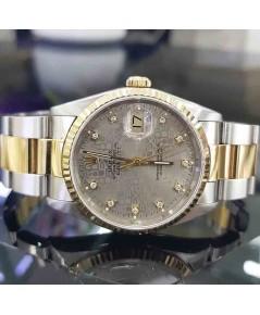 นาฬิกามือสอง rolex datejust 36มิล 16233 หน้าคอมเทาเพชร