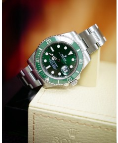 Rolex Submariner Hulk Green Dial Bezel Mens Watch 116610lv