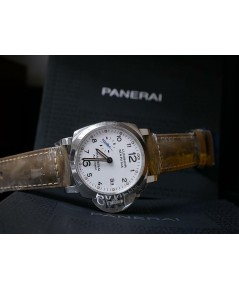 Panerai PAM 01523 PAM 1523 - Marina 1950 - 3 Days Automatic in Steel - on Brown Calfskin Leather Str