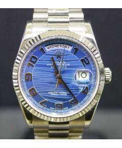 118239 Day date หน้าปัด Blue wawe