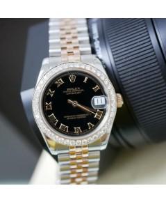 Rolex Date Just 178271 หน้าปัดดำ