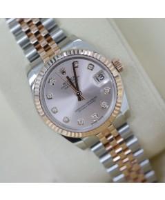 Rolex Date Just 178271 หน้าปัดแชมเปญฝังเพชร
