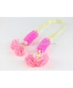 พวงมาลัยดอกไม้ปลอม สีชมพู