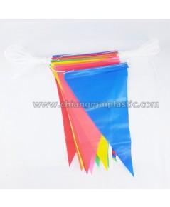 ธงราว ผ้าพลาสติก สีสด