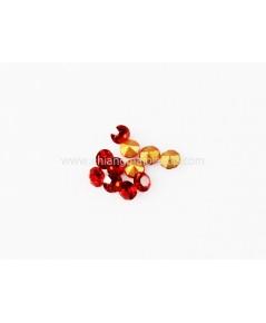 เพชรก้นแหลม ทรงกลม สีแดง ขนาด 2mm