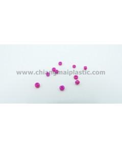ลูกปัดชาวเขา สีชมพูบานเย็น ขนาด 4 mm. เบอร์ 6/0